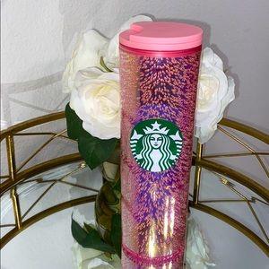 Starbucks Pink Sparkling Bubble Travel Tumbler 💗